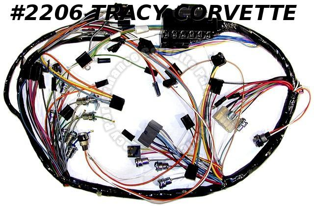 1963 Corvette GM 983972 2983551 Dash IP Wiring Harness w/ backup lamps USA  Made