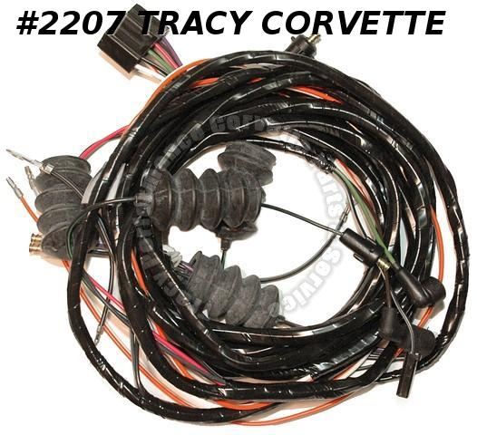 1963 Corvette New Repro Rr Body Wiring Harness w/BU Lamps USA  Made Lectric Ltd
