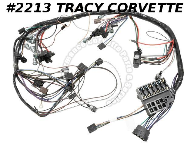 1965 Corvette IP Dash Wiring Harness GM 2988866 w/o Backup Lamps New USA Made