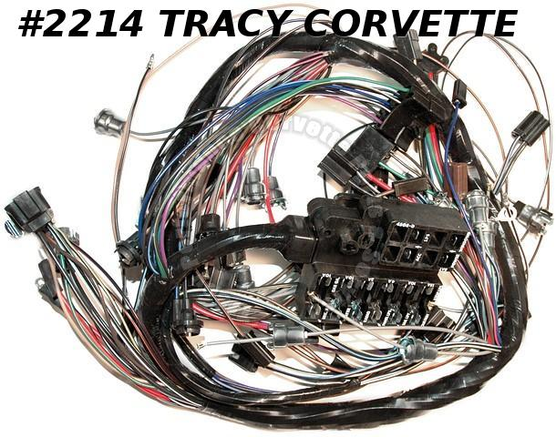 1965 Corvette Dash IP Wire Harness GM# 2988869 w/ backup Lamps USA  Made Wiring