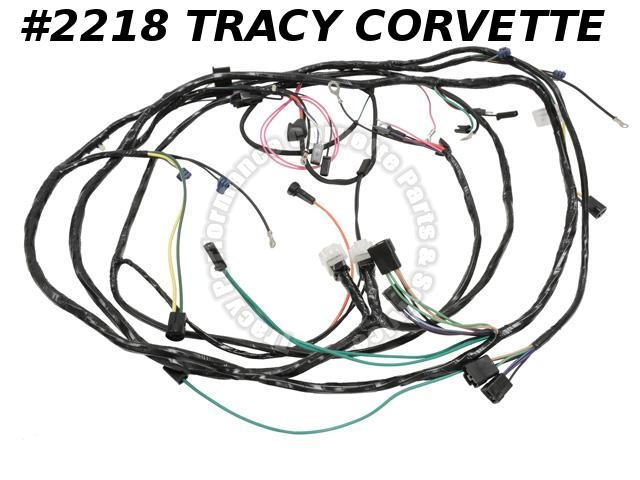 1966 corvette new repro engine  forward lamp wiring harness usa made lectric ltd