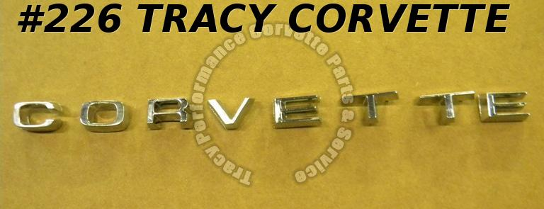 1974 1975 Corvette NOS GM 6260519 Rear Bumper Corvette Letter Set Emblem w/Nuts
