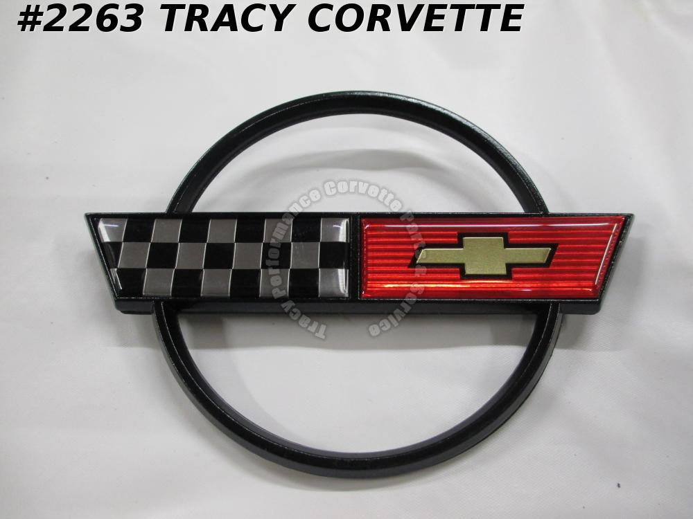 1984-1990 Corvette Gas Door Emblem *Metal Correct* 14060260 Exc 35th Anniversary