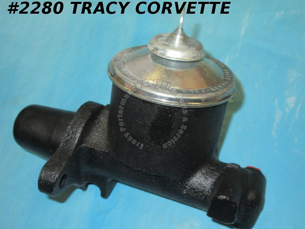 "1963 Corvette Rebt Orig 5462389 Non PB Master Cylinder w/Cap 7/8"" Choice of Date"