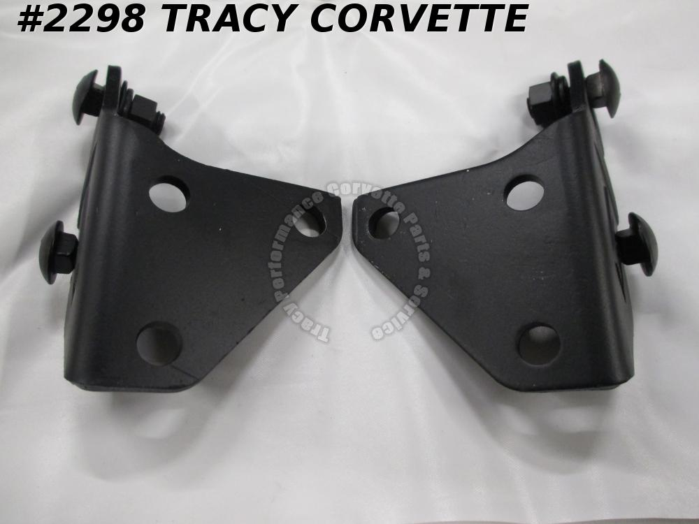 1956-1962 Corvette Original 3716323 3716324 Convertible Top Support Bracket/Pair