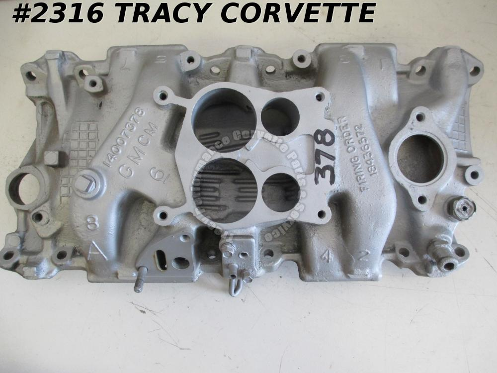 1978-1979 Corvette Used 14007378 Aluminum Intake Manifold for Q-Jet Carbs 78-79
