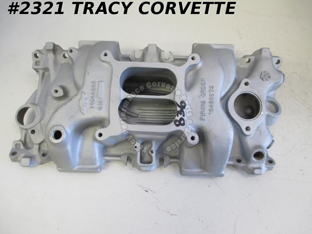 1955-1990 Chevy Used 14044836 SBC Aluminum Intake Manifold for Late Style Heads