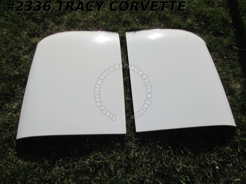 1978 Corvette Used Original Fiberglass T-Tops Silver Trim Border will fit 78-82