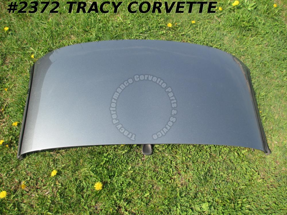 1998-2004 Corvette Used Original Medium Spiral Gray Roof Panel w/Latches Hdliner