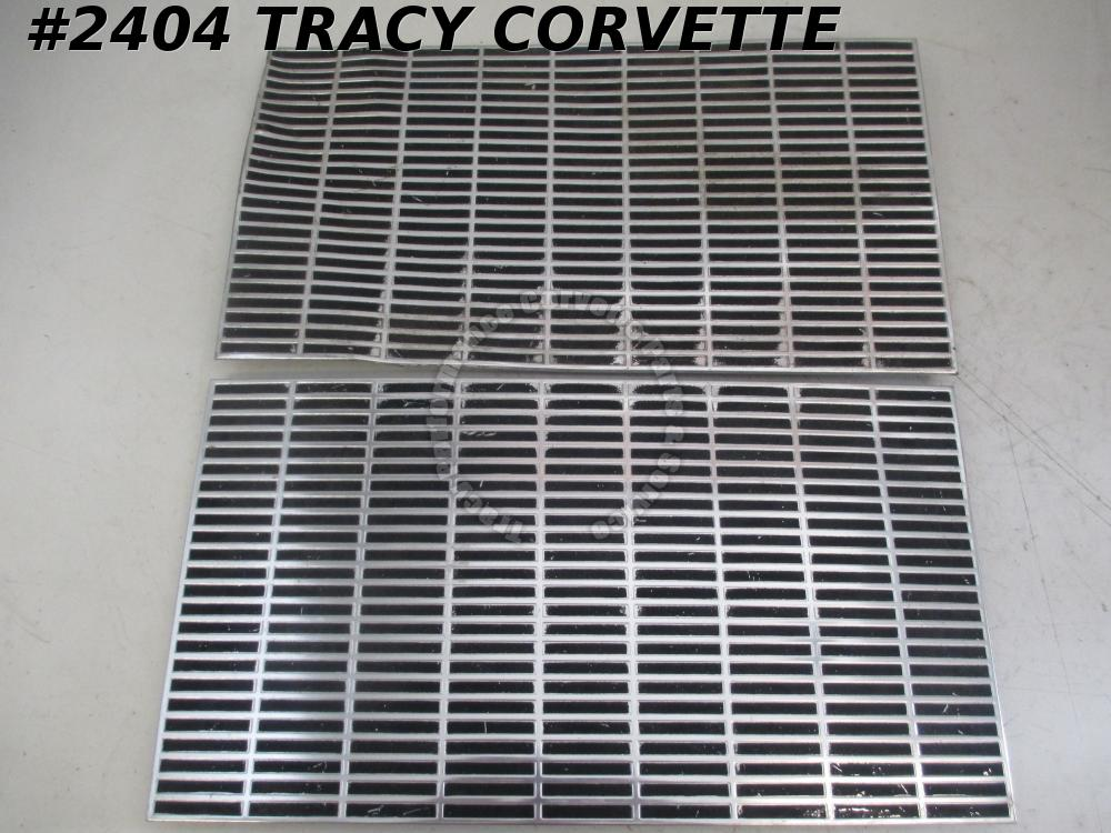 1963 Corvette Hood Grille Inserts GM# 3837360 Cookie Sheets  RARE Survivor Pair