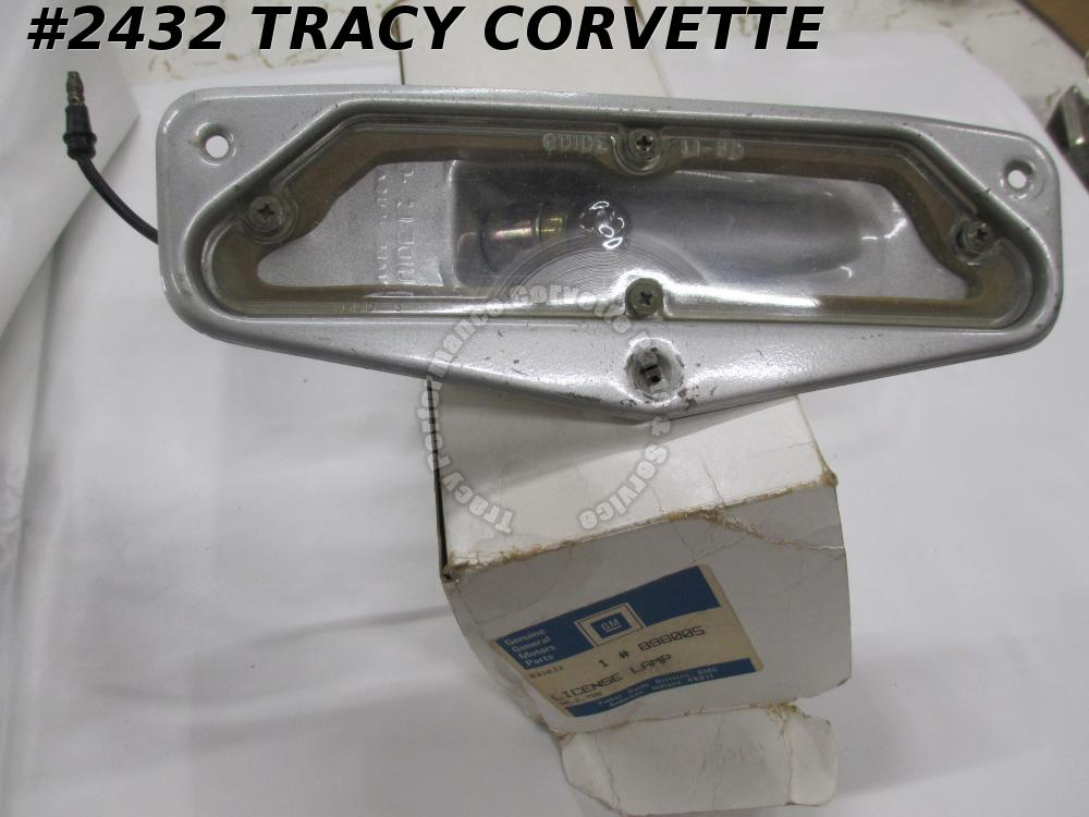 1963-1967 Corvette NOS 898005 License Lamp Assembly 63 64 65 66 67