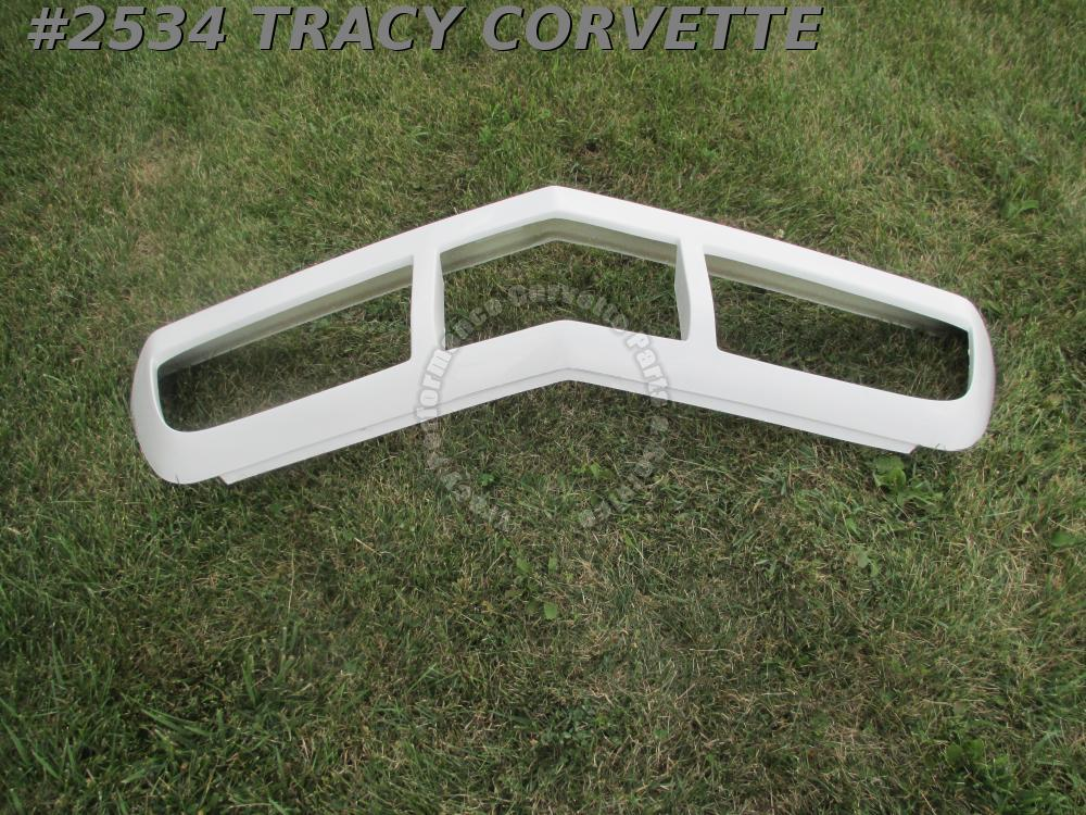 1973-1974 Corvette New Stock Fiberglass Front Bumper Hand Layup White Gel Coat