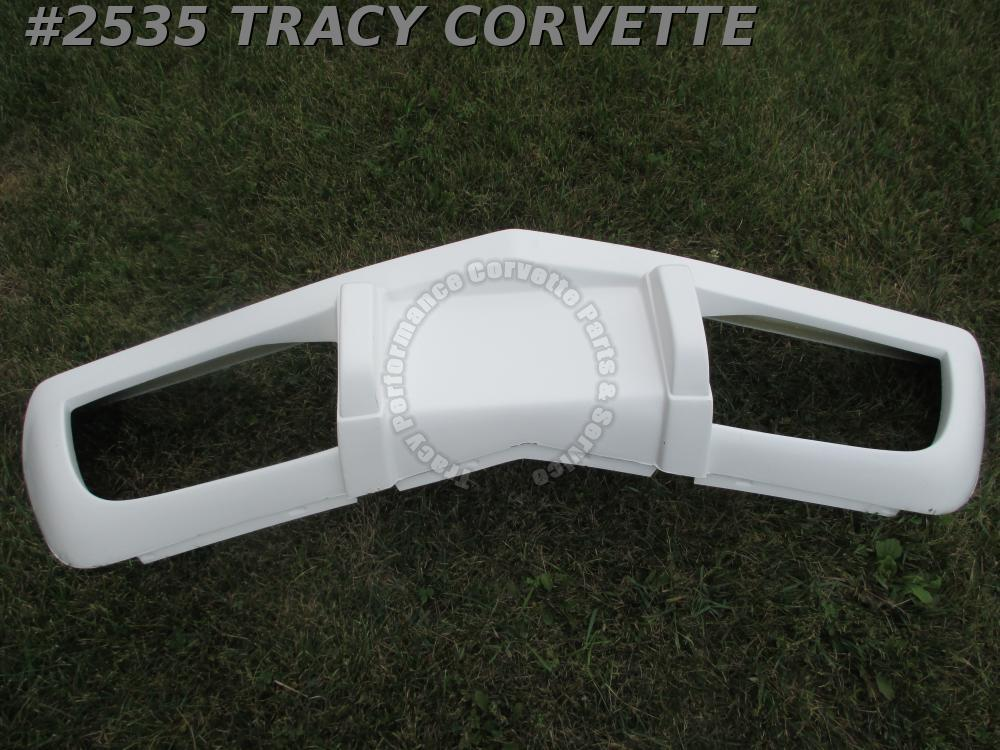 1975-1979 Corvette New Front Bumper Stock Replacement Hand Layup White Gel Coat