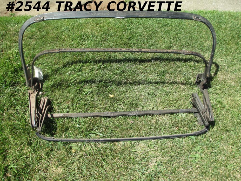 1963-67 Corvette Original Convertible Top Frame Missing Front Bow 63 64 65 66