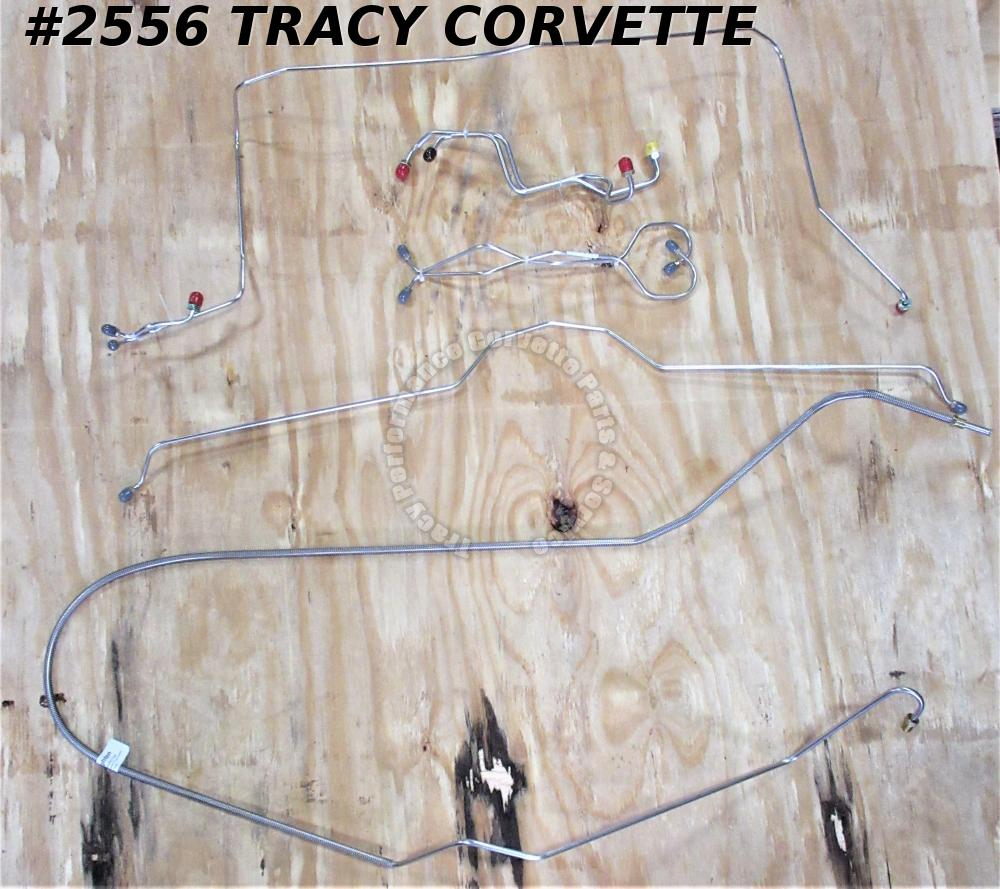 1969 Corvette Power Brake Complete Line Set - Stainless Steel - 8 Pieces
