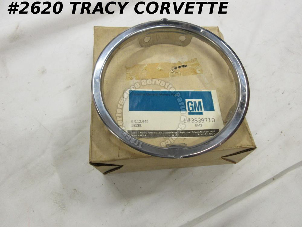 1964-67 Corvette NOS 3839710 Conv Gas Fuel Door Bezel 64 1965 65 1966 66 1967