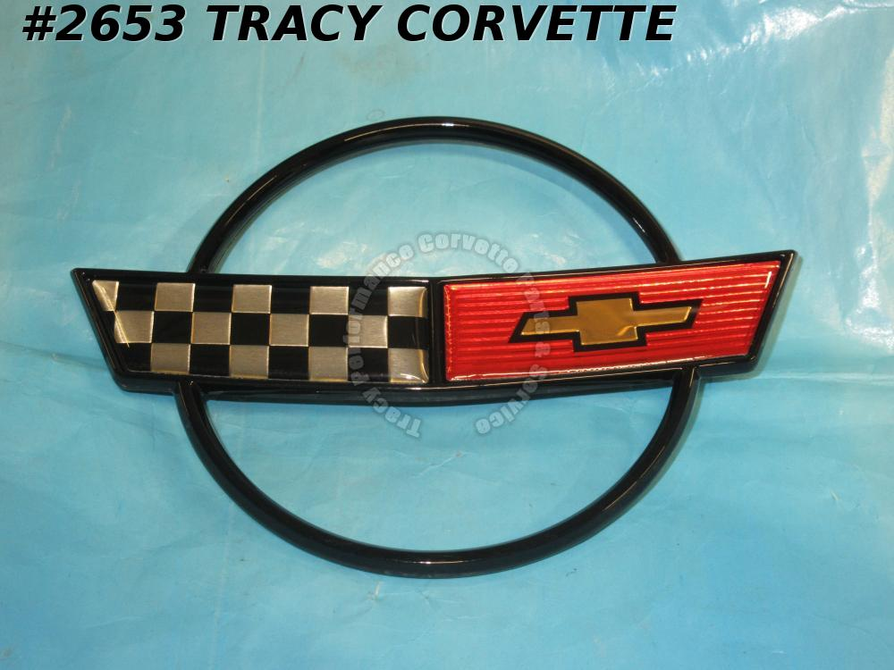 1984-1990 Corvette GM 14060259 Nose Emblem Metal Correct Except 35th Anniversary