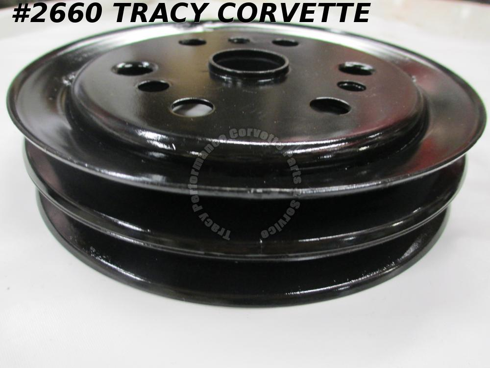 1962-75 Corvette Refurbished Orig 3858533 Stamped 3766987 Crankshaft Pulley