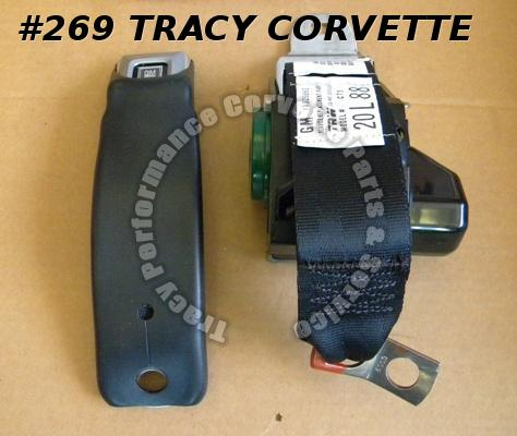 1978 79 80 Corvette NOS 14029862 RH GM Black Seat Belt Only Safety 78 1979 1980
