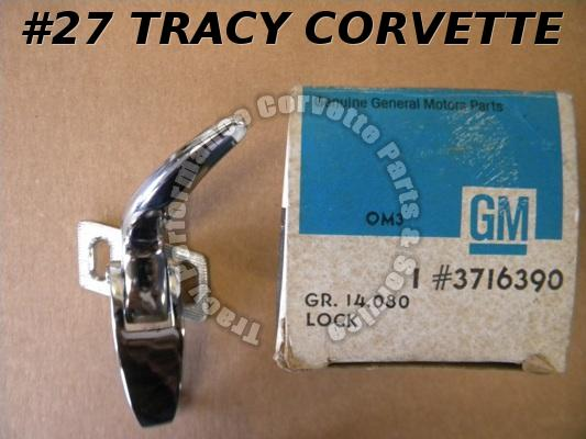 1956-1962 Corvette NOS 3716390 RH Soft Top Header Lock