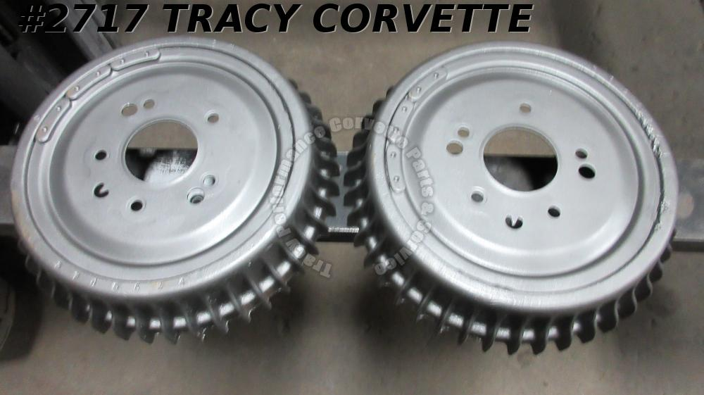 1959-1962 Corvette Brake Drums Front Finned GM#3745534 Original RPO687 (Pair)
