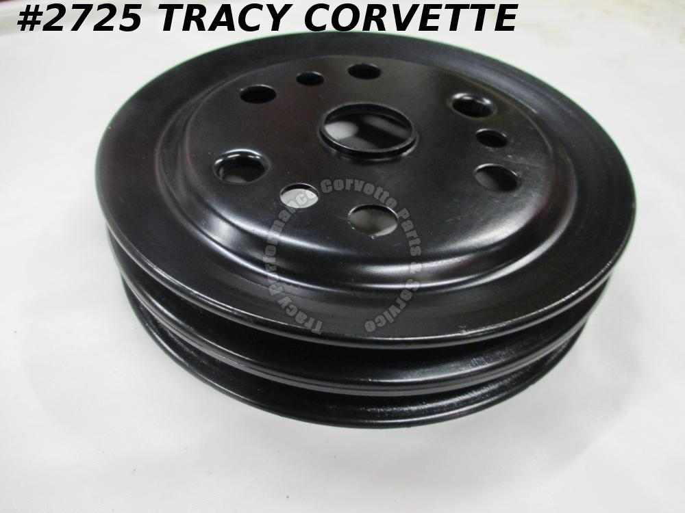 1962-1975 Corvette NOS 3858533 2 Groove Crankshaft Pulley Original Design