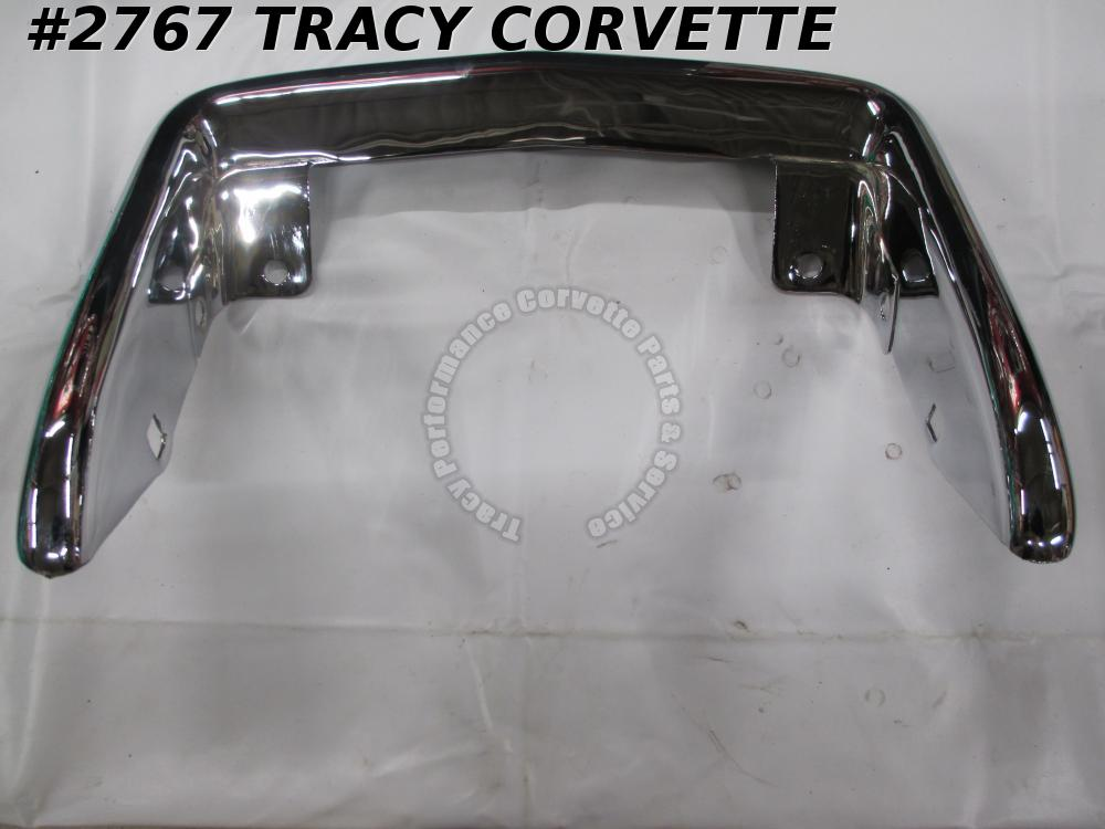 1961-1962 Corvette Rear License Bumper Assembly Rechromed Original 3776063