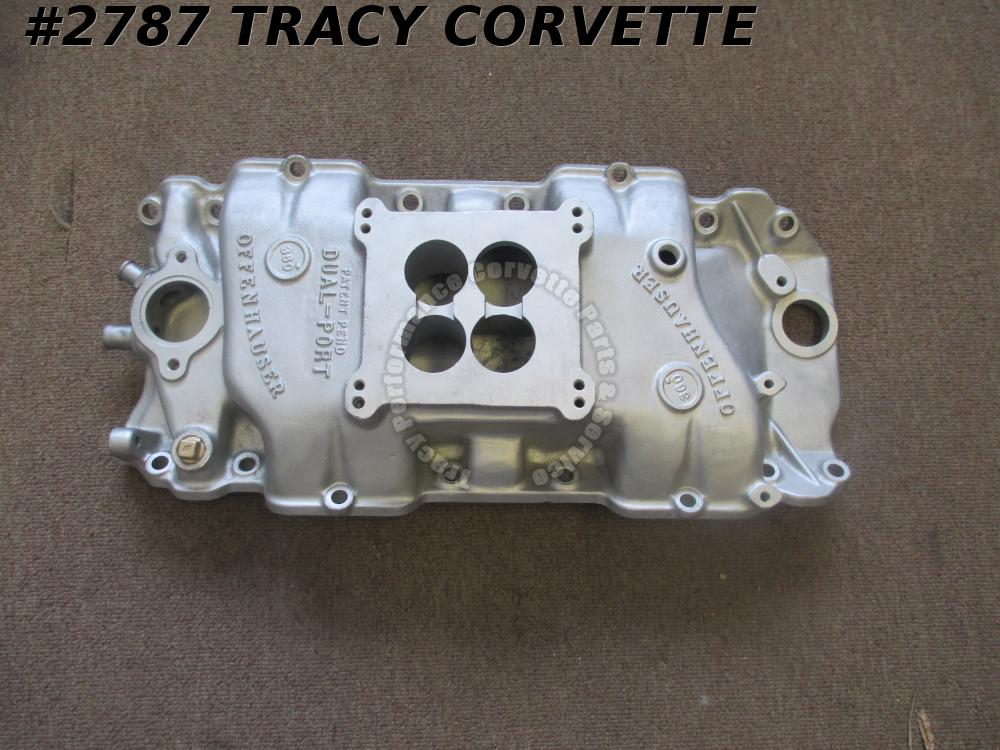 1965-85 Offenhauser Used BBC Rect Dual Port 360 Alum 6003-DP Intake Manifold