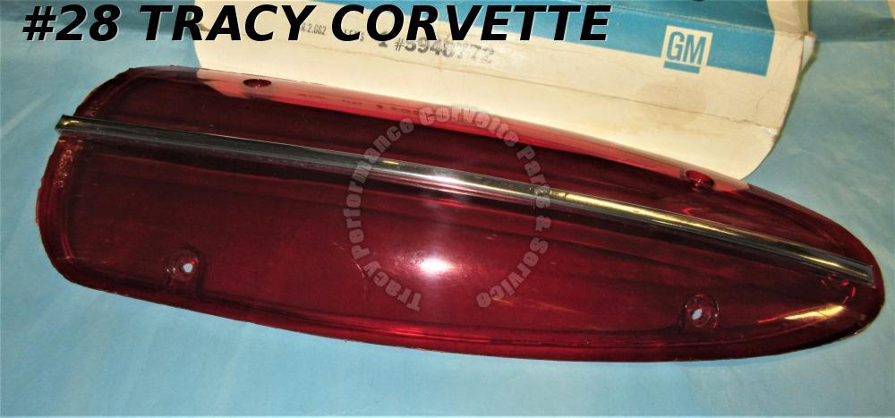 1958 1959 1960 Corvette NOS 5948772 Tail Light Lens, Only One Available 58 59 60