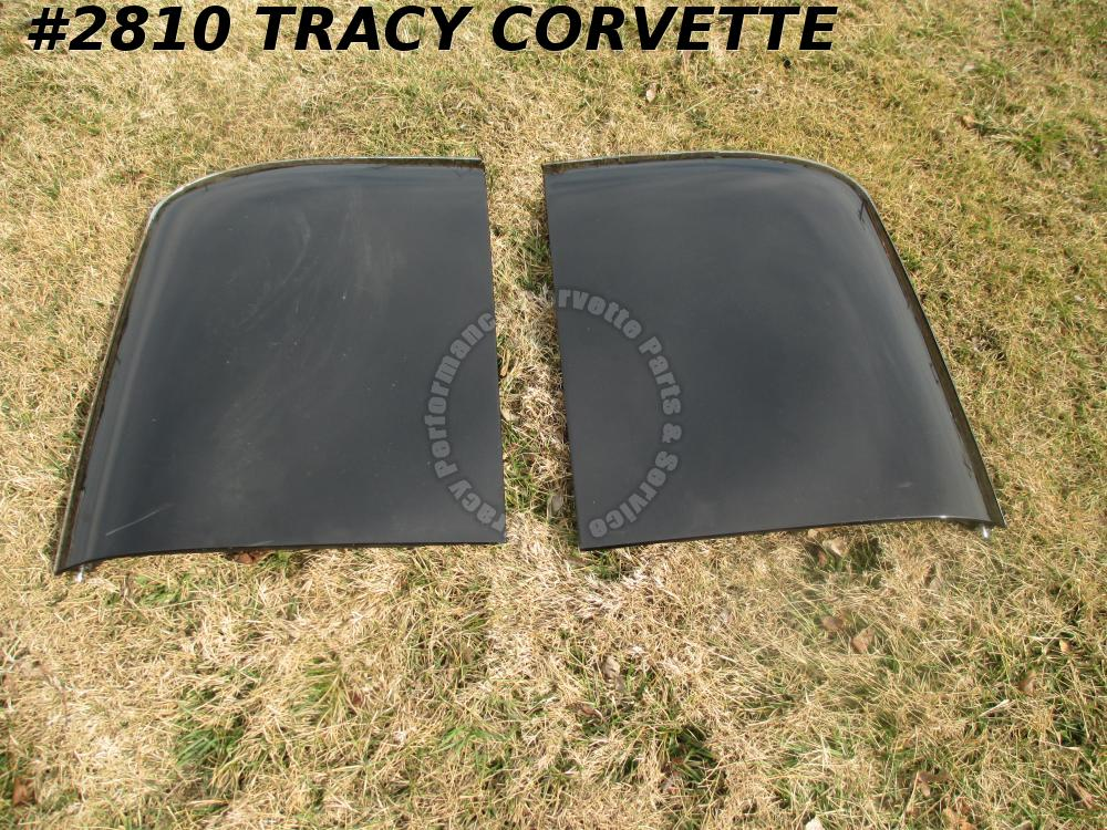 1979-82 Corvette Used Original Black Fiberglass T-Tops/with Locks will fit 1978