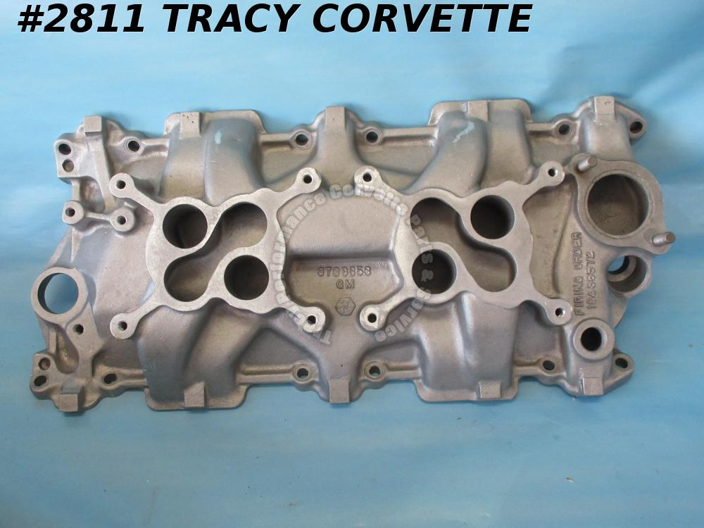 1957-1961 Corvette Used Factory 3739653 Alum Intake Manifold Date 12 20 or 12 17