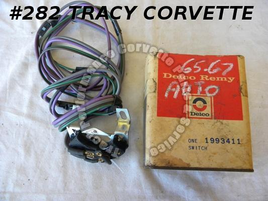 1965-67 Corvette NOS 1993411 Powerglide Neutral Safety Switch w/BU Lamps 66 1967