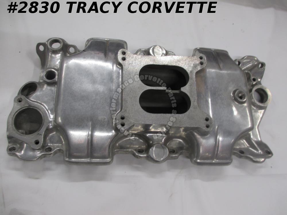 1955-85 Offenhauser Used SBC Low Profile Rect Port Polished Alum Intake Manifold