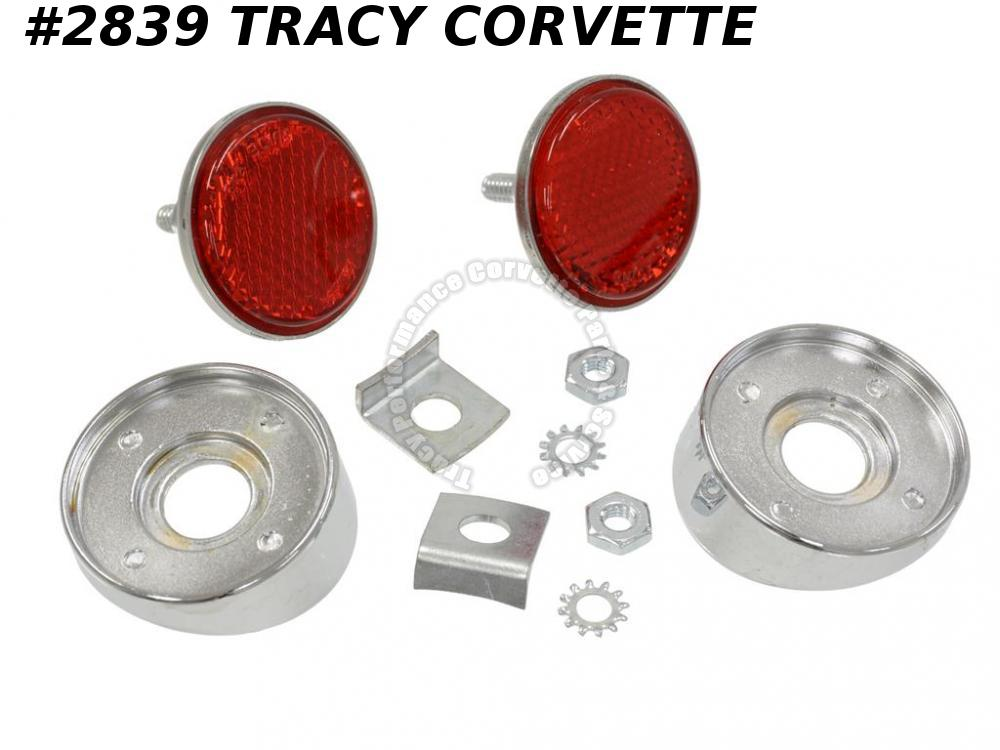 1958-1960 Corvette Rear Reflector Kit GM# 5749741 1959 includes hardware