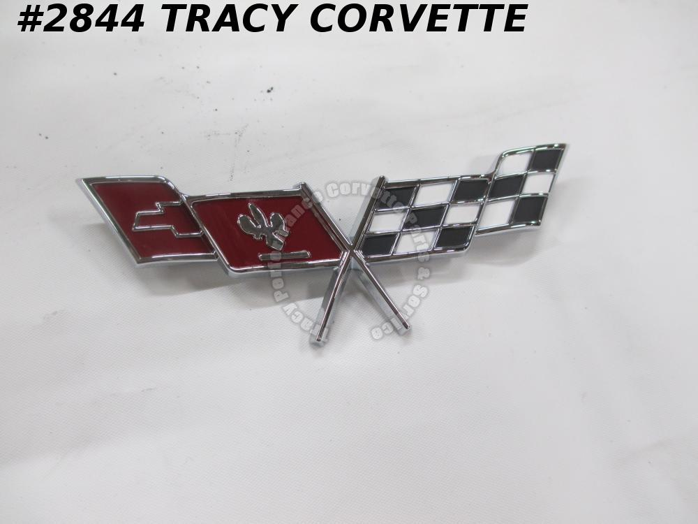 1979 Corvette New 471295 Fuel Gas Door X Flag Emblem