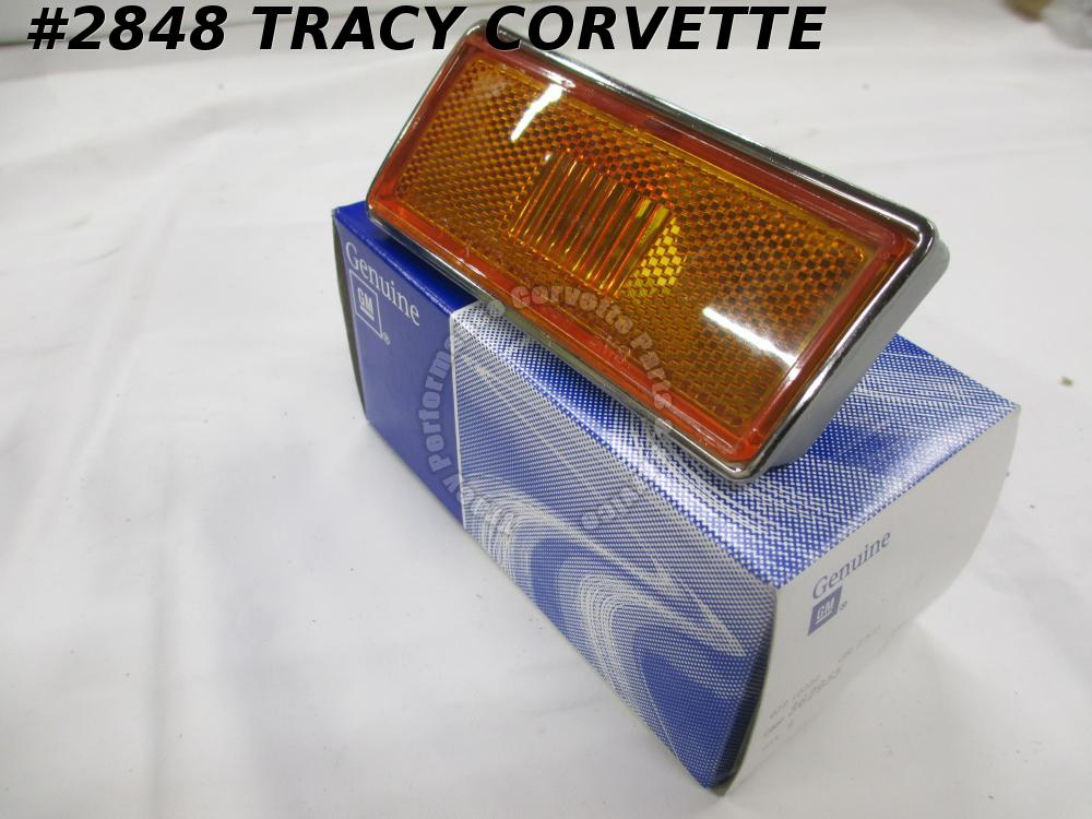 1973-1979 Corvette New GM 362955 LH Front Side Marker Lamp Assembly Orange 73-79