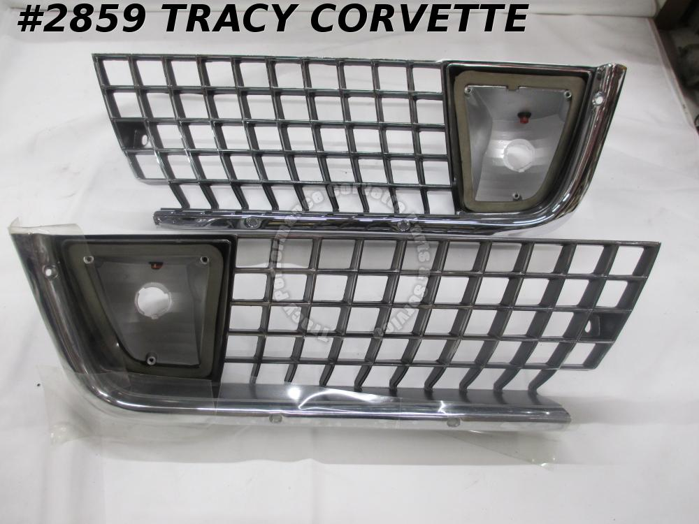 1971-1972 Corvette NOS 5964683 5964684 Casting 3966793 3966794 Outer Grill/Pair