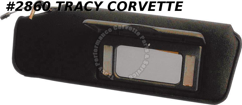 1984-1996 Corvette New Replacement 10199727 Black Sunvisor with Vanity Mirror/LH