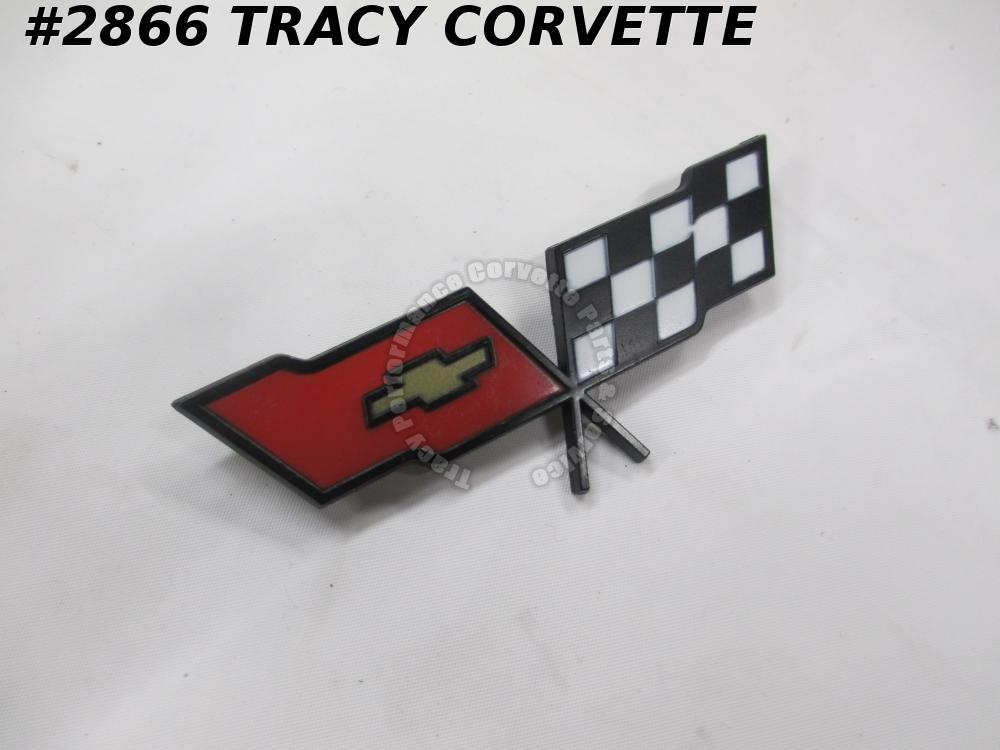 1982 Corvette NOS 14042293 Fuel Gas Door Emblem /Not Coll Ed-DRIVERS Qual