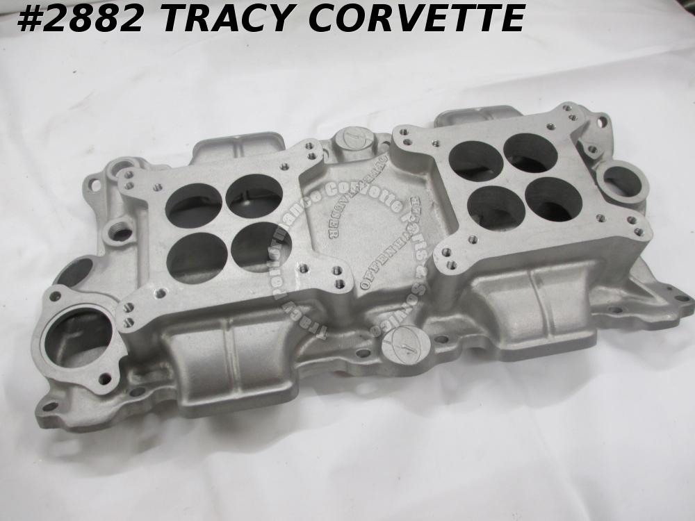 1955-85 Offenhauser Used SBC Low Profile Rect Port Alum Intake Manifold 5253