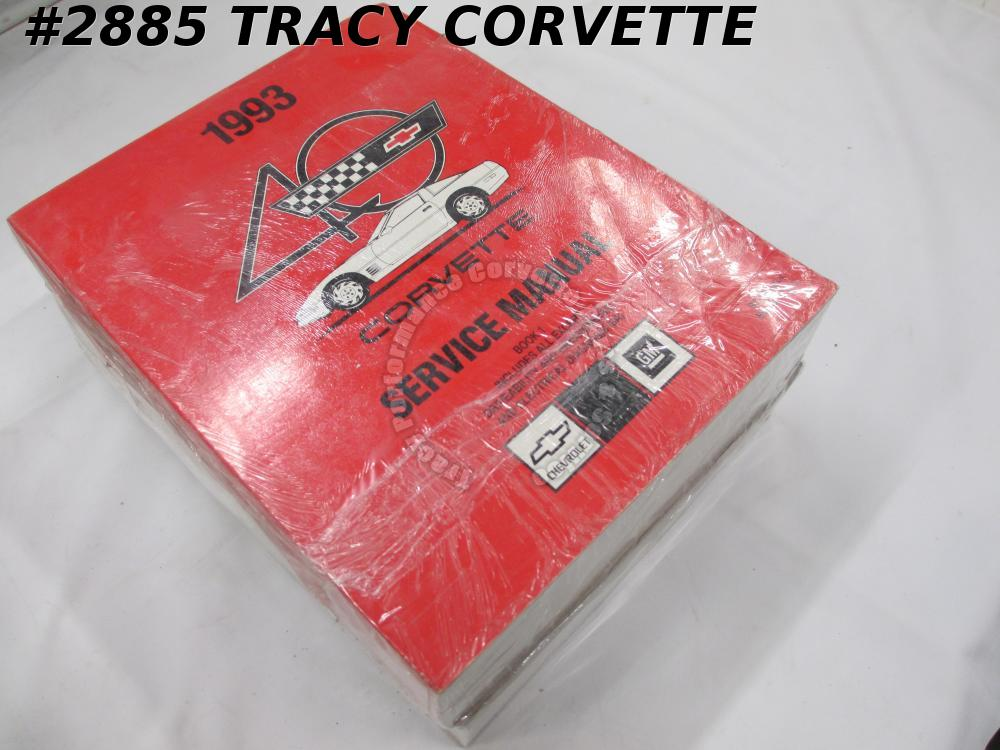 1993 Corvette New GM Original 2 Volume Service Manual  GM Factory Sealed