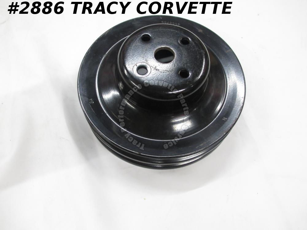 1965-1968 Corvette Used 3942992 Dual Groove Water Pump Pulley 65 1966 66 1967 68
