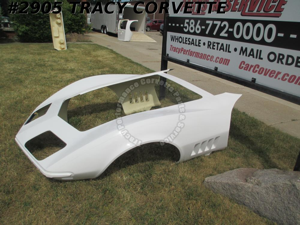 1968-1969 Corvette Front End Body Shell Clip 1-Piece HLU Fiberglass Door to Door