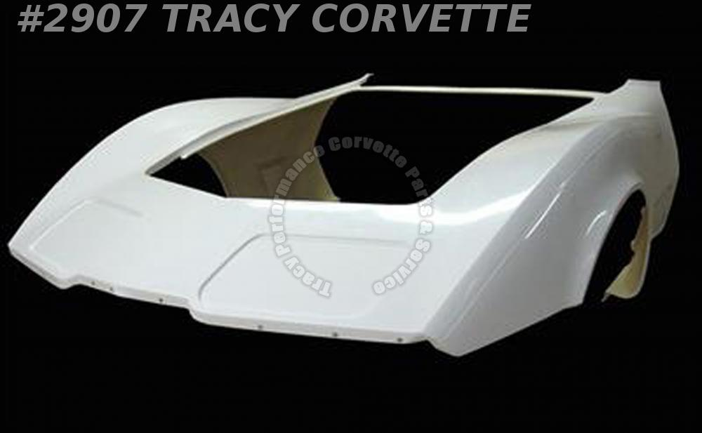 1980-1982 Corvette New 1 Piece HLU Fiberglass Front End Body Shell Door to Door