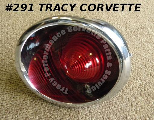 1963-67 Corvette NOS 910557 LH Inner Tail Light Assembly w/Lens 63 64 65 66 1967