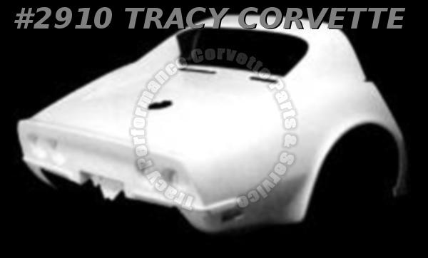 1968-1969 Corvette New Coupe 1 Piece HLU Fiberglass Outer Rear Clip Body Shell
