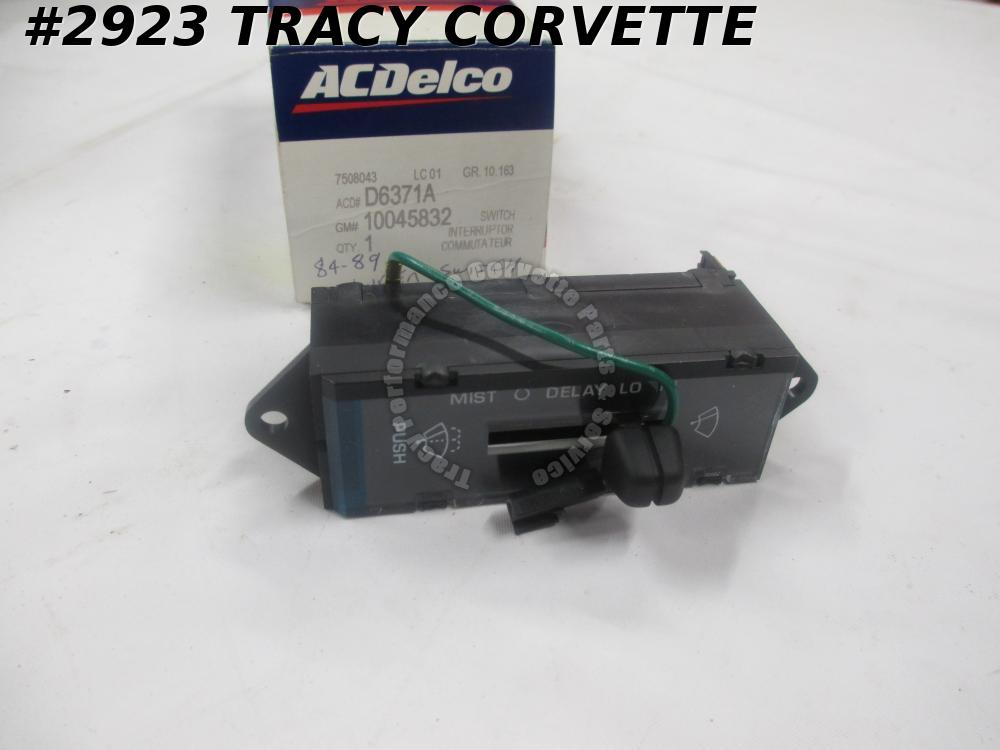1984-89 Corvette NOS 10045832 Interior Windshield Wiper Switch 84 85 86 87 88 89