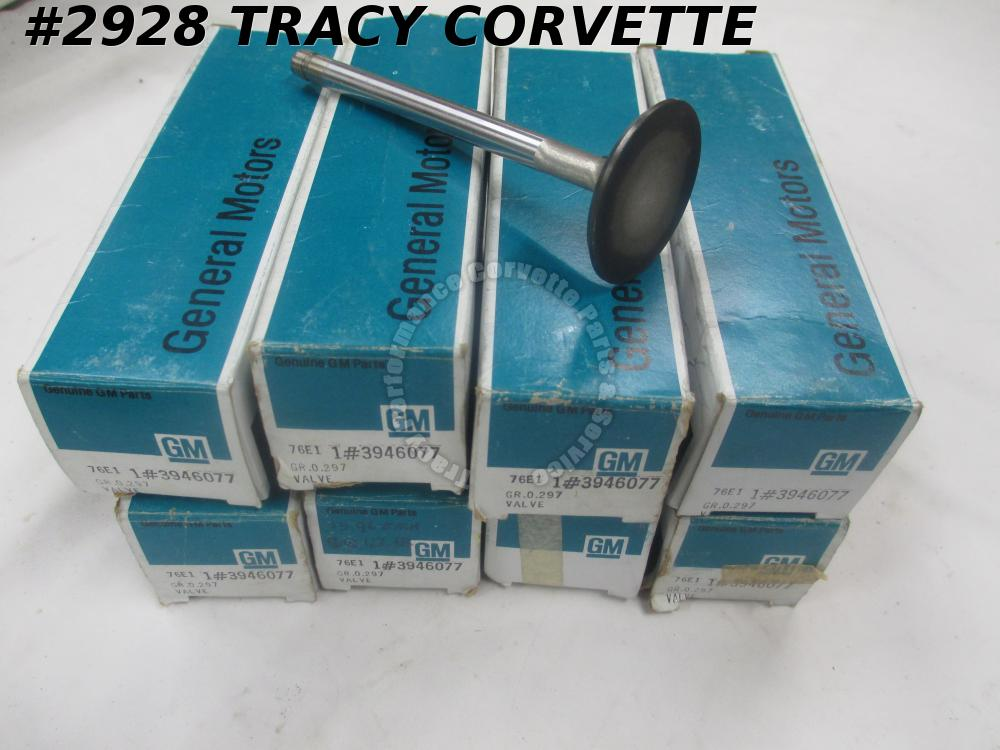1969-1971 Corvette NOS 3946077 BBC Exhaust Valve 1.88 Inch Dia STD/Set of 8