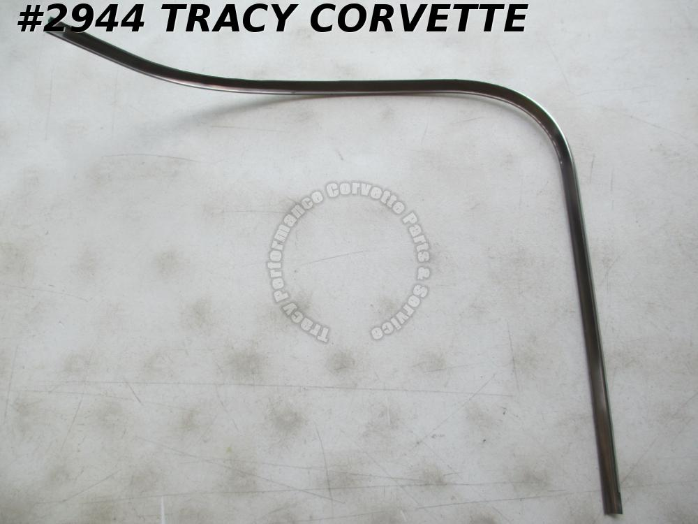 1963 Corvette Polished 3825016 Split Window Coupe OS Upper RH Rr Window Molding