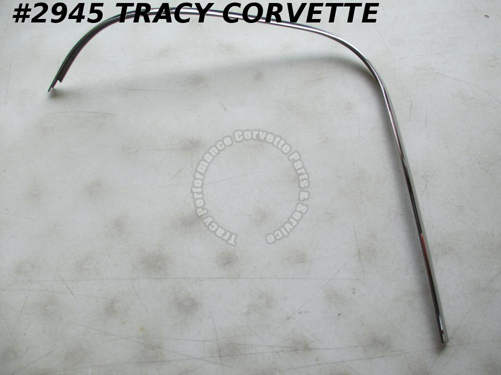 1963 Corvette Polished 3825015 Split Window Cpe OS Upper LH Rr Window Mldg BENT